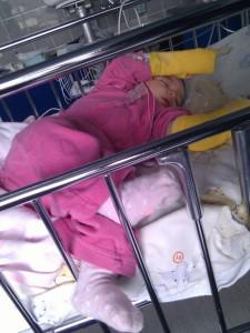 Larua Maria schwer krank